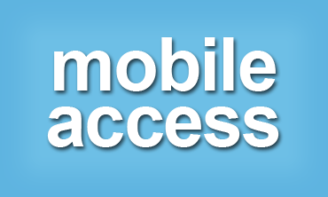 Graphic link to page listing the library's mobile access services & options