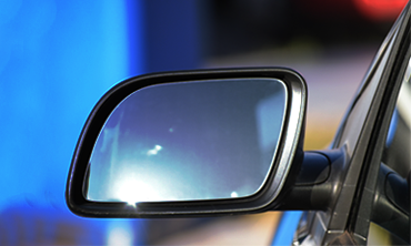 Image of car's side rear view mirror